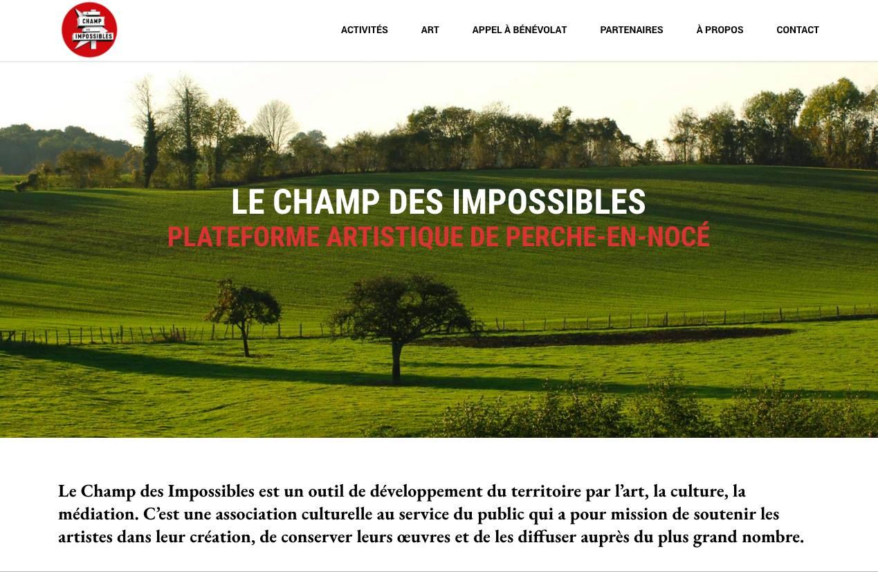Site internet Le Champ des Impossibles