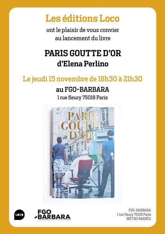 Paris Goutte d'Or 15 novembre 2018